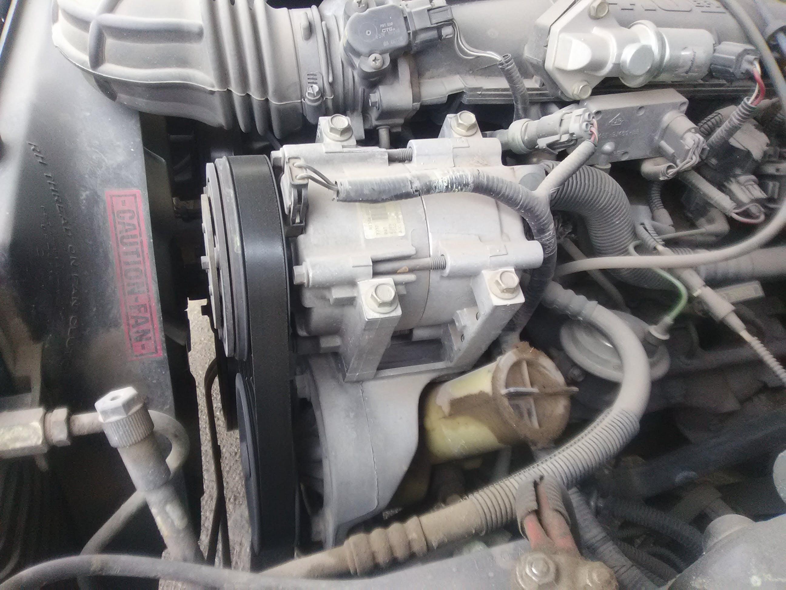 Insufficient exhaust of Automobile AC compressor